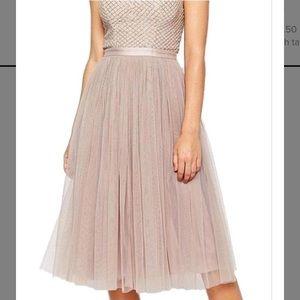 Needle & Thread Beige Coppelia Tulle Dress